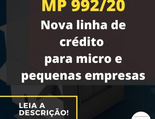 MP 992/20 – Nova linha de crédito para micro e pequenas empresas